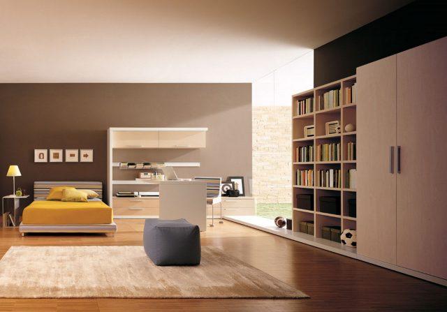 Chambre d'étudiant minimaliste