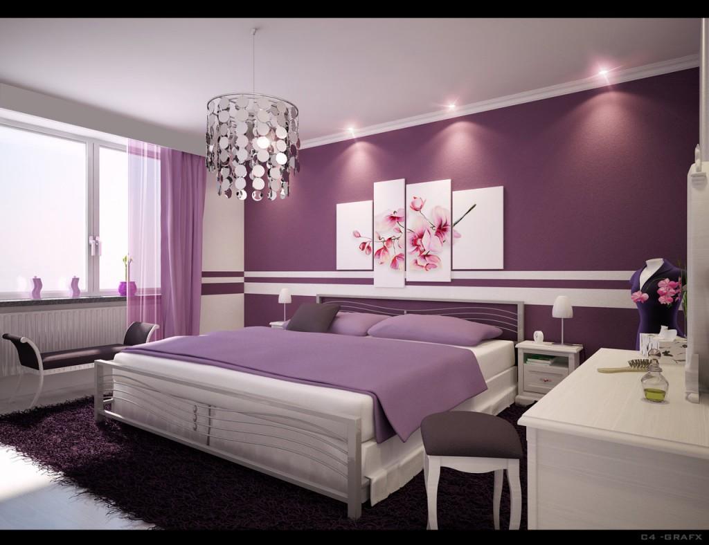 Chambre en violet