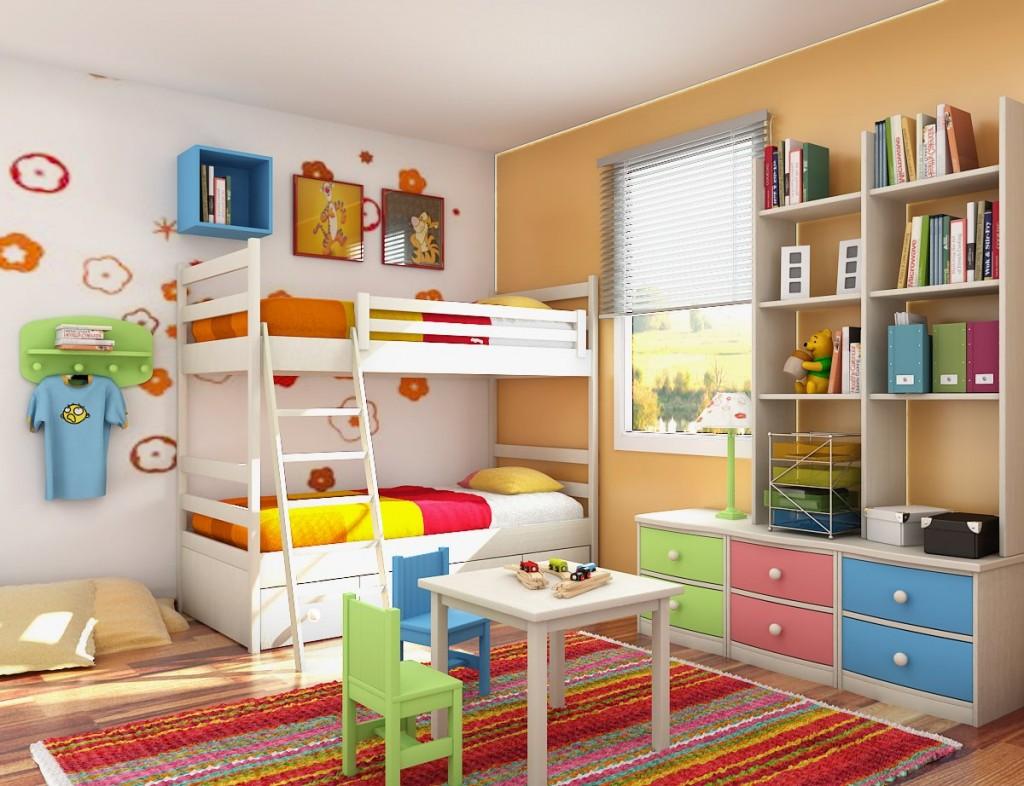 Chambre pour enfants colorée et lumineuse