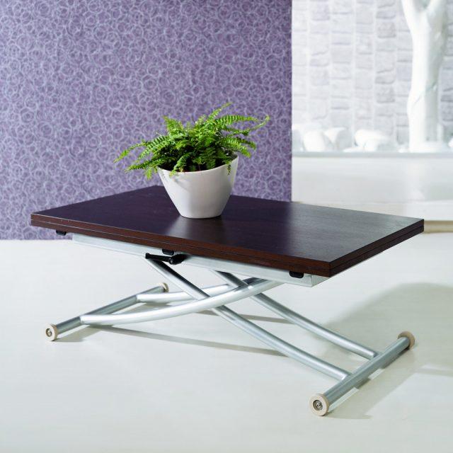 Table basse relevable à rallonge Wengé Studio
