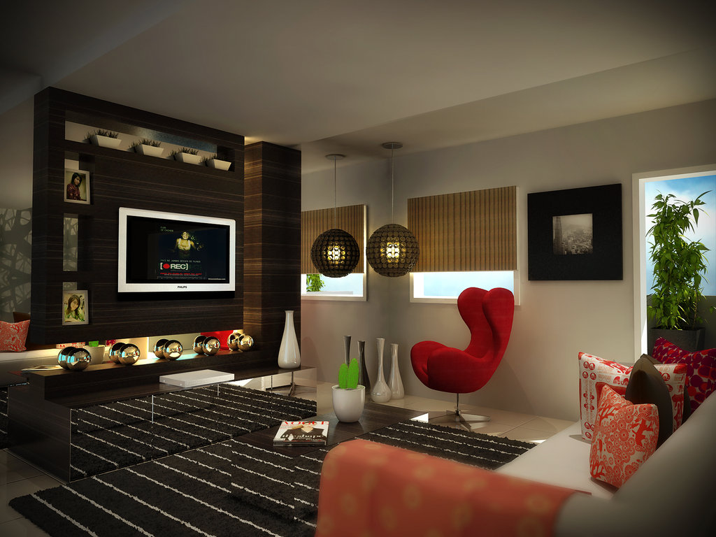 Salon design aux couleurs sobres