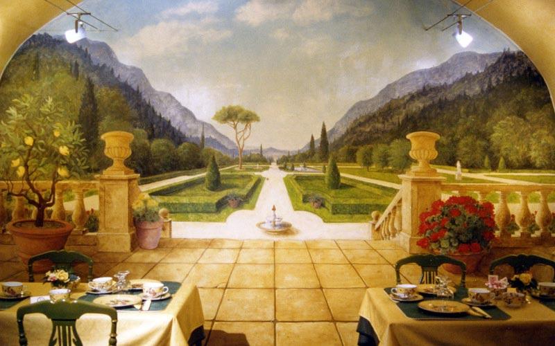 Peinture décorative pour restaurant