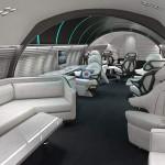 L'intérieur d'un jet privé