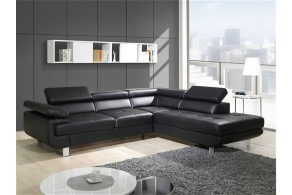 canape-d-angle-convertible-design-droit-cuir-pu-noir-studio