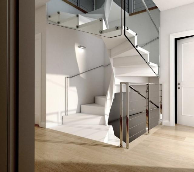 Colimacon design blanc inox