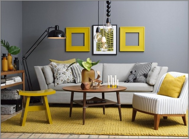 photo-decoration-déco-salon-jaune-et-gris