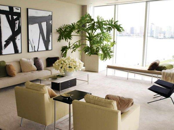 plantes-artificielles-déco-de-salle-de-séjour