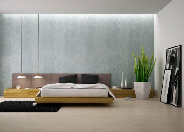 simple-déco-chambre-à-coucher-plante-verte