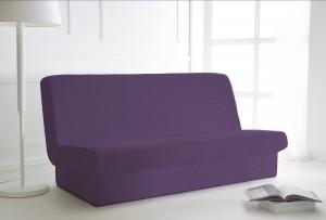 Housse de CLIC CLAC violette 135x195 avec bande de socle