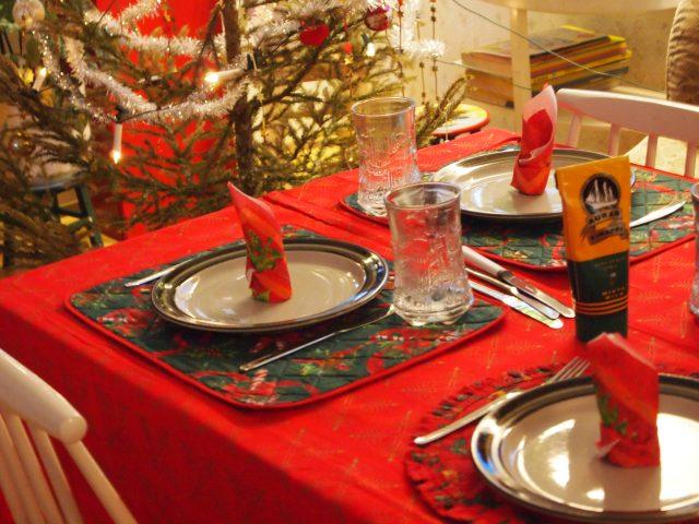 set de table spécial noël cadeau fêtes