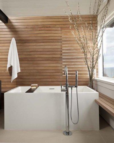 Les matériaux nécessaires pour meubler la salle de bain comme un spa