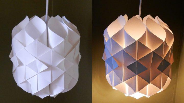 Une lampe en papier