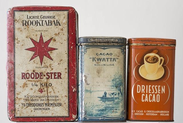 collection boite vintage