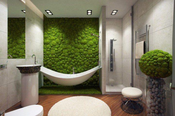 mur mousse salle de bain